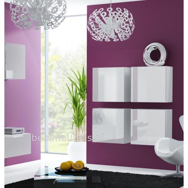 ... > Dressoirs > VERDI Zwevend Design Dressoir Hoogglans Wit , Zwart