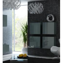 VERDI Zwevend Design Dressoir Hoogglans Grijs