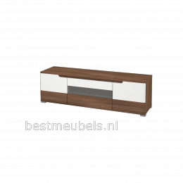 TIEL Tv-meubel + wandplanken , Hoogglans Wit