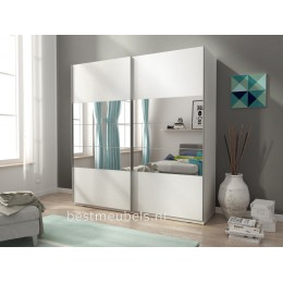 MADI 1 Zweefdeurkast 150 cm , Schuifdeurkast met spiegel