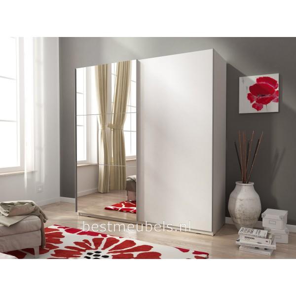MOLI 2 Zweefdeurkast , Schuifdeurkast met spiegel 150 cm