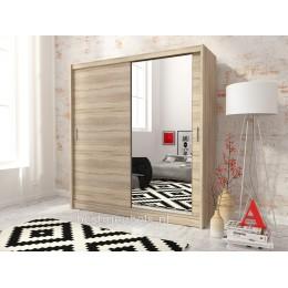 MACON Schuifdeurkast met spiegel 200 cm