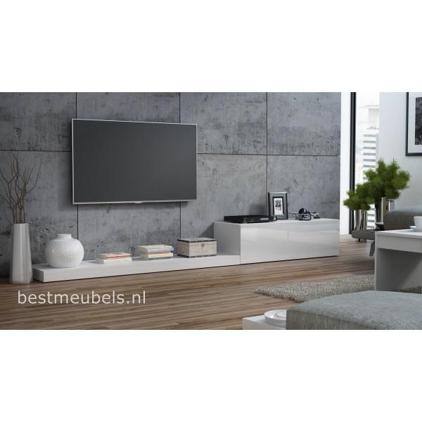Tv Meubel 300 Cm.Lemi Tv Meubel Hoogglans Tv Kast 300cm Direct Uit Voorraad