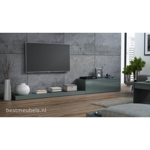 LEMI Tv-meubel hoogglans tv-kast 300cm
