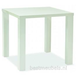 MERONE Eettafel Hoogglans Wit 80x80 cm