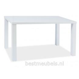 MERONE Eettafel Hoogglans Wit 140 cm