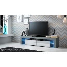 SATO Tv-meubel , grijs , wit , zwart .
