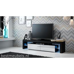 SATO Tv-meubel wit , zwart .