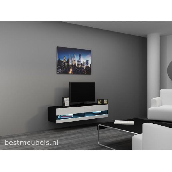 Verdi 9 Nieuw 140cm Zwevend Tv Meubel Tv Kast Hoogglans