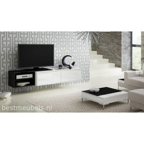 SAVO 2 Zwevend Tv-Meubel Hoogglans 180 cm