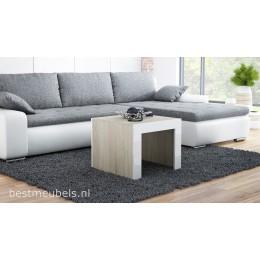 TAPO Salontafel Eiken sonoma / wit / zwart  vierkant.