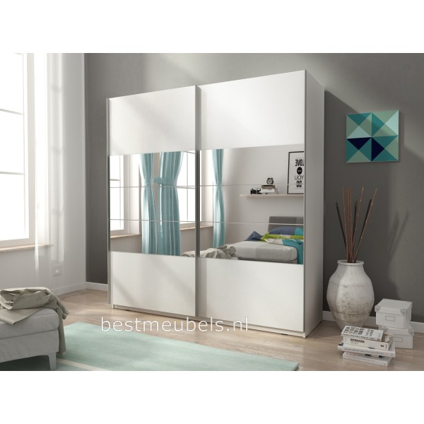 zweefdeurkast 200 cm schuifdeurkast met spiegel. Black Bedroom Furniture Sets. Home Design Ideas