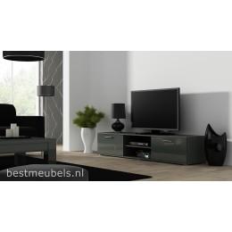 SORRENTO Tv-meubel 180 cm Hoogglans Grijs , Wit