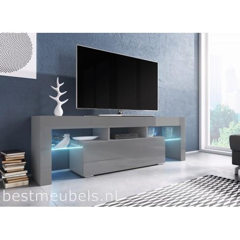 Grijs Tv Meubel.Tygo 138 Cm Tv Meubel Hoogglans Grijs Tv Kast Direct Uit Voorraad