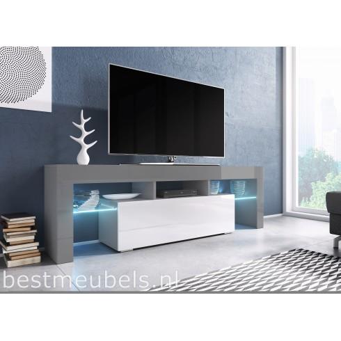 TYGO 138 cm Tv-meubel Hoogglans Grijs Tv-kast