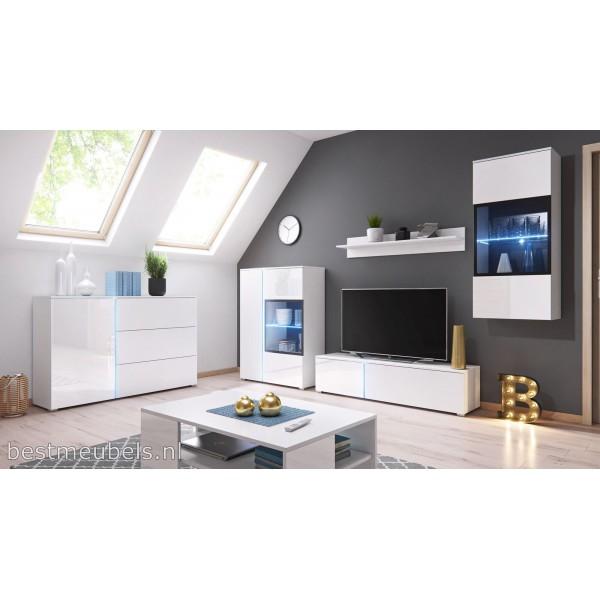 Siena tv meubel hoogglans wit tv kast for Hoogglans wit tv meubel