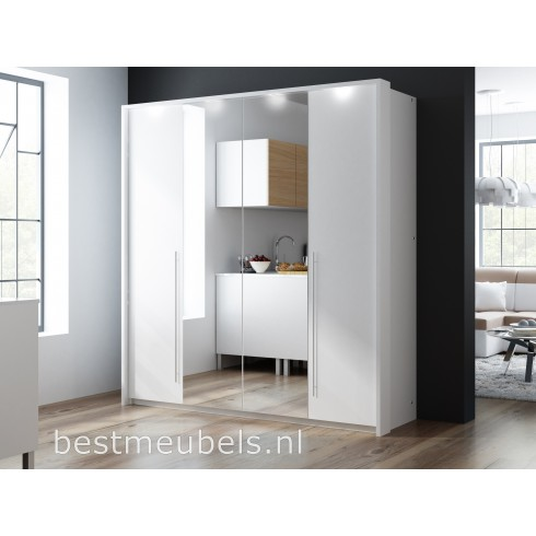 barmea 210 cm kledingkast met spiegel