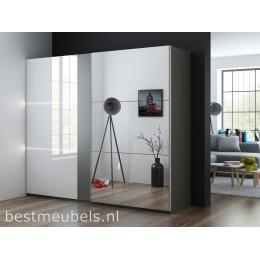 TREVI 250cm Zweefdeurkast, Schuifdeurkast met spiegel