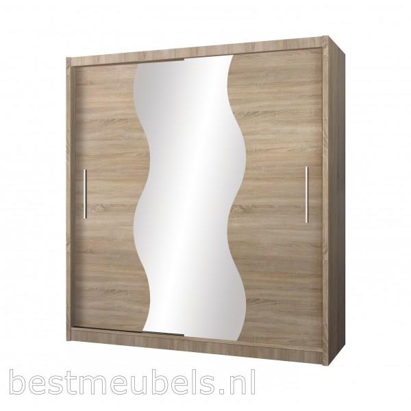 Kledingkast 150 Cm.Tivoli 150 Cm Kledingkast Met Spiegel