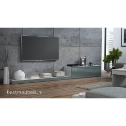 LEMI Tv-meubel hoogglans grijs tv-kast 300cm