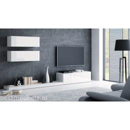PERI 7 Tv-wandmeubel Hoogglans wit