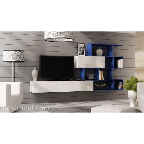 verdi systeem 16 blauw wandmeubel boekenkast