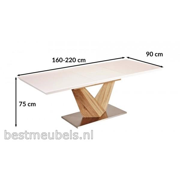 Uitschuifbare Eettafel 160 Cm.Arina Eettafel 160 Cm Uitschuifbaar