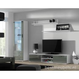 SORRENTO 1 Tv-wandmeubel Hoogglans Grijs