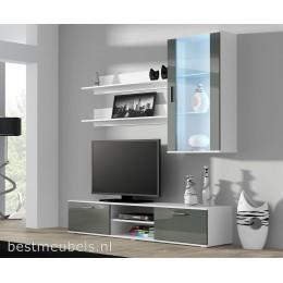 SORRENTO 5 Tv-meubel Hoogglans Grijs