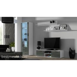 SORRENTO 7 Tv-wandmeubel Hoogglans grijs