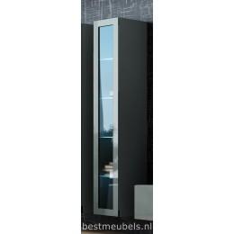 VERDI 3 Zwevend vitrinekast Hoogglans Grijs