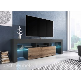 TYGO 138 cm Tv-meubel Antraciet Tv-kast