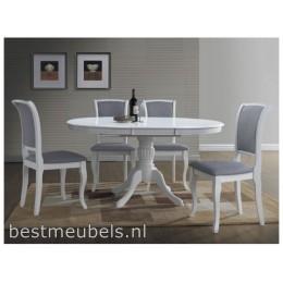 ORSI Ronde Eettafel Wit, Uitschuifbaar