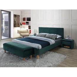 ALESSO Gestoffeerd bed fluweel 160cm