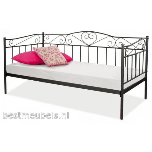 BELITO metalen bed, zwart