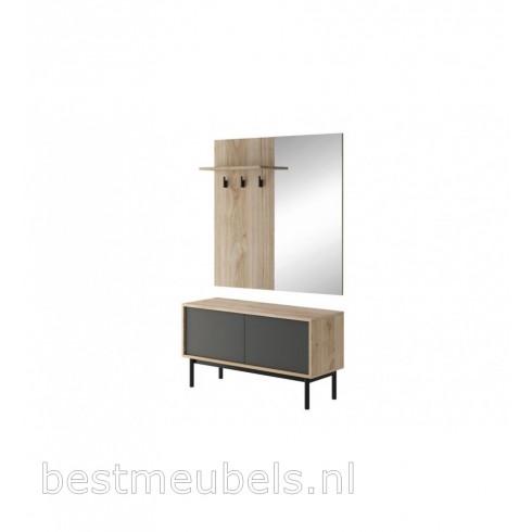 BELITO Garderobepaneel met spiegel, halkast.