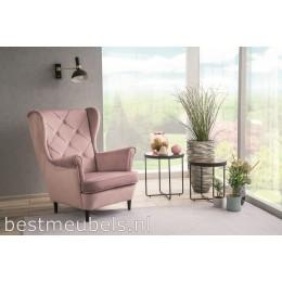 LAPIO Comfortable Fauteuil Velvet, Oud Roze