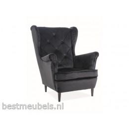 LAPIO Comfortable Fauteuil Velvet, Groen.