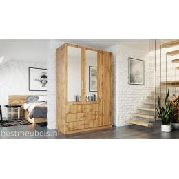 PALENA 3D Kledingkast met spiegel , Garderobekast met 3-deurs