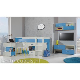 KOMEET Systeem B Kinderkamer Roze, Blauw, Tienerkamer