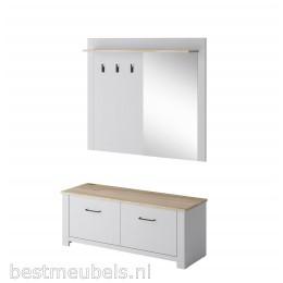 GILZE Garderobepaneel met spiegel, halkast.