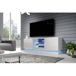 QUINN 160cm Tv-meubel Hoogglans Wit, Tv-kast