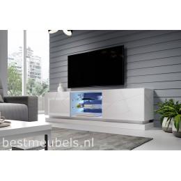 QUINN 200cm Tv-meubel Hoogglans Wit, Tv-kast