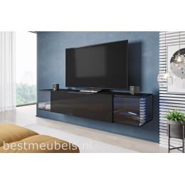 SALVE Zwevend Tv-meubel , Zwart