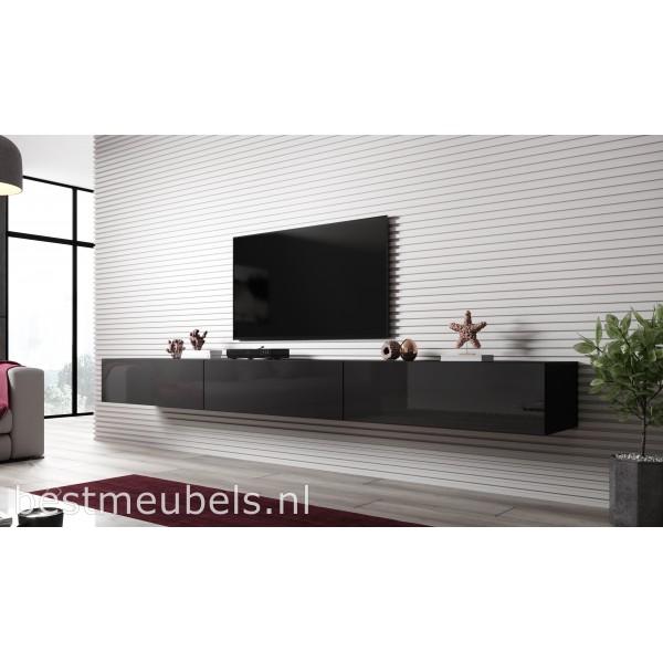Verdi 300cm Zwevend Tv Meubel Tv Kast Hoogglans
