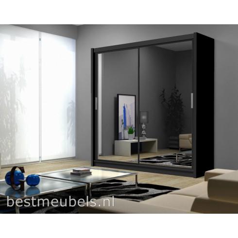 PIERO 203 cm Schuifdeurkast met spiegel