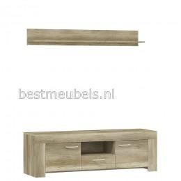 Tv Meubel SOEST + wandplank