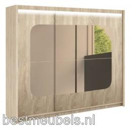 BRANDO Schuifdeurkast met spiegel 250 cm