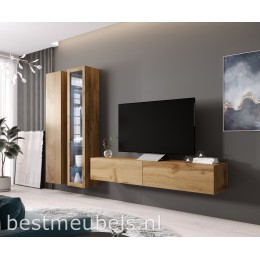 VERDI Systeem 3 Zwevend Wandmeubel Wotan, Tv meubel