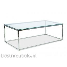 HOLI Salontafel 120cm  Zilver - Glas